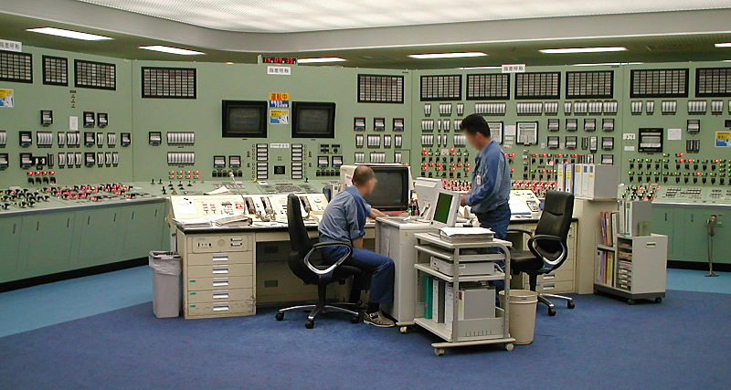Fukushima 1 power plant control room